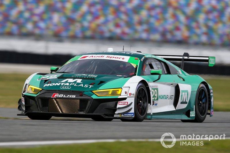 #29 Montaplast by Land Motorsport Audi R8 LMS GT3, GTD: Daniel Morad, Dries Vanthoor, Christopher Mies, Ricardo Feller