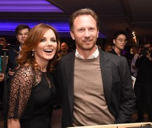 Geri Halliwell e Christian Horner, Team Principal, Red Bull Racing