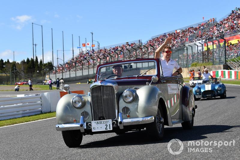 Stoffel Vandoorne, McLaren lors de la parade des pilotes
