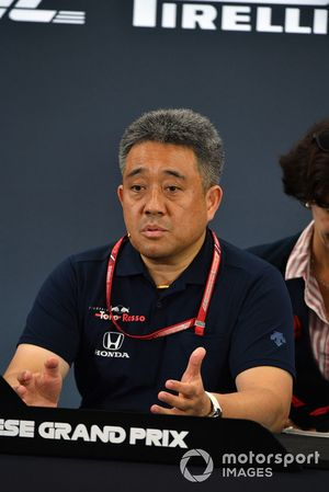 Toyoharu Tanabe, Honda F1 Technical Director in the Press Conference