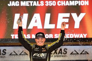 Race winner Justin Haley, GMS Racing, Chevrolet Silverado Fraternal Order Of Eagles