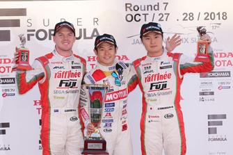 山本尚貴(TEAM MUGEN)、ニック・キャシディ(KONDO RACING)、山下健太(KONDO RACING)