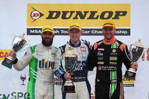 Rob Austin, HMS Racing Alfa Romeo Giulietta, Ashley Sutton, Team BMR Subaru Levorg and Josh Cook, Power Maxed Racing Vauxhall Astra