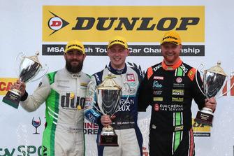 Rob Austin, HMS Racing Alfa Romeo Giulietta, Ash Sutton, Team BMR Subaru Levorg and Josh Cook, Power Maxed Racing Vauxhall Astra