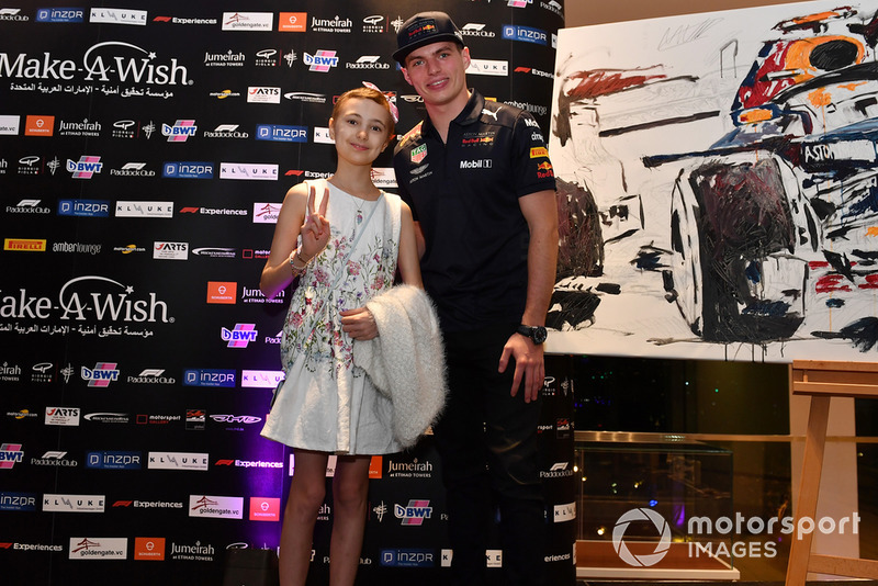 Max Verstappen, Red Bull Racing at Make A Wish Foundation Charity Auction at Jumeirah At Etihad Towers