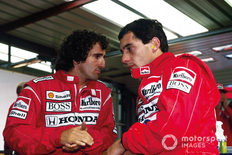 McLaren never got a chance to try for the most 1-2 finishes at the start of the 1988 season, as Senna's gear selector broke on the grid in the Brazil season opener and he was later disqualified for switching to a spare car.