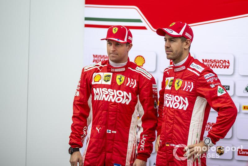 Kimi Raikkonen, Ferrari and Sebastian Vettel, Ferrari