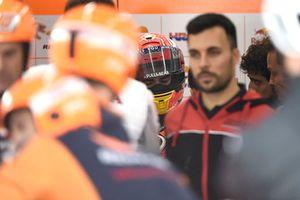 Marc Marquez, Repsol Honda Team, after crash