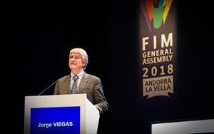Jorge Viegas, durante la Asamblea General de la FIM en Andorra la Vella