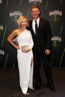 Clint Bowyer, Stewart-Haas Racing, mit Ehefrau Lorra