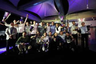 Les vainqueurs George Russell, ART Grand Prix Callum Ilott, ART Grand Prix Anthoine Hubert, ART Grand Prix Lando Norris, Carlin Alexander Albon, DAMS