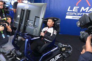 Kamui Kobayashi, Toyota Gazoo Racing on a simulator