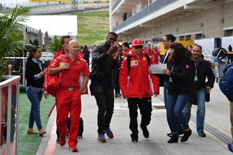 Kimi Raikkonen, Ferrari en trainer Mark Arnall