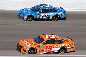 Daniel Suarez, Joe Gibbs Racing, Toyota Camry ARRIS, Corey LaJoie, TriStar Motorsports, Chevrolet Camaro Dragonchain