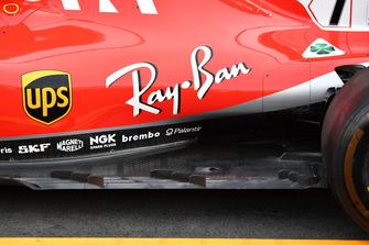Fond plat de la Ferrari SF71H