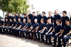 The Scuderia Toro Rosso pose for an end of season photo