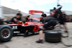 Nobuharu Matsushita, ART Grand Prix durante la práctica de pitstop