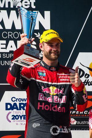 Podium: Tercero, Shane van Gisbergen, Triple Eight Race Engineering Holden