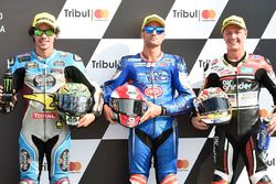 Polesitter Mattia Pasini, Italtrans Racing Team, second place Franco Morbidelli, Marc VDS, third pla