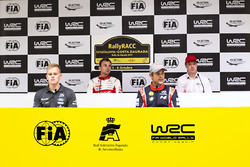 Conférence de presse : Stéphane Lefebvre, Citroën World Rally Team, Jari-Matti Latvala, Toyota Racing, Ott Tänak, M-Sport, Andreas Mikkelsen, Hyundai Motorsport