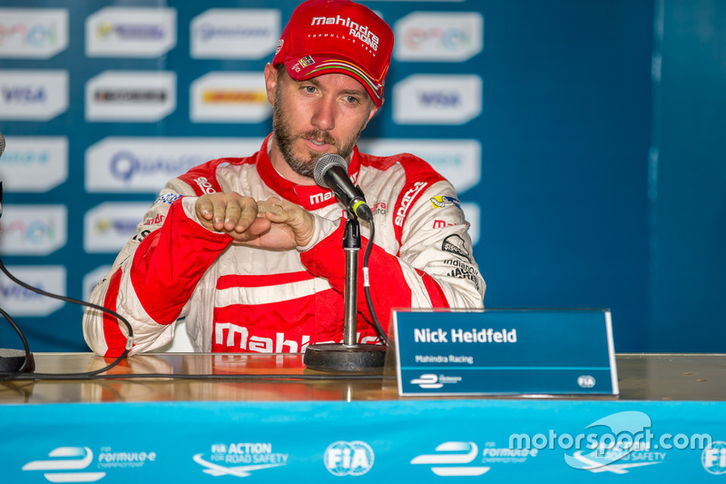 Conferencia de prensa: tercer lugar Nick Heidfeld, Mahindra Racing