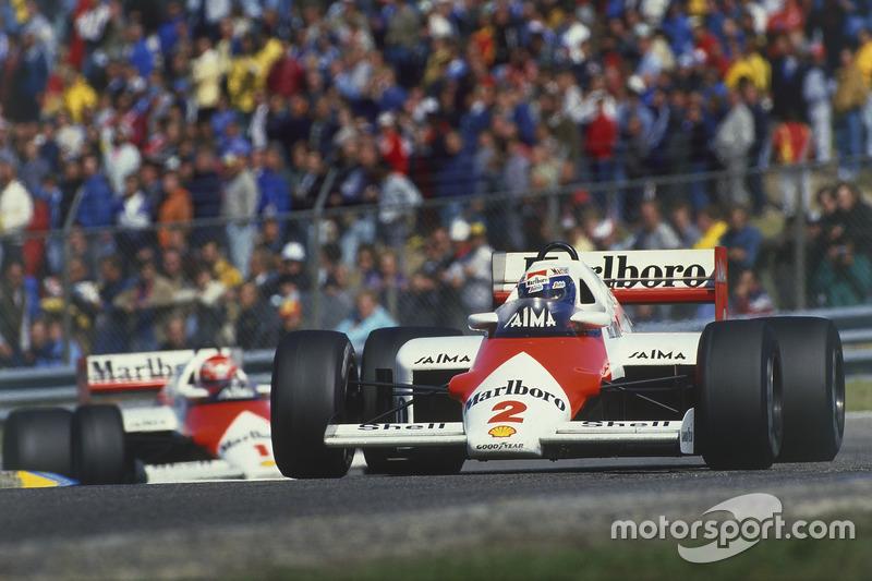 Alain Prost e Niki Lauda, ambos na McLaren em 1984