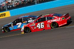 Michael Annett, HScott Motorsports Chevrolet, Regan Smith, Tommy Baldwin Racing Chevrolet