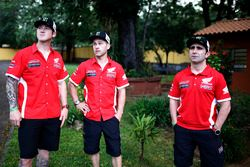Ricky Brabec, Michael Metge, Paulo Goncalves, Monster Energy Honda Team