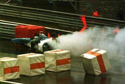 Incidente: Giancarlo Fisichella, Benetton