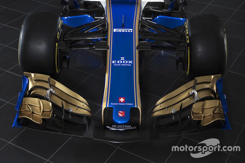Деталі переднього антикрила Sauber C36