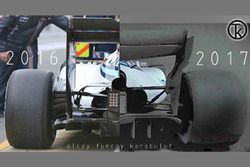 Williams F1 2016 & 2017 araç karşılaştırması, arka bölüm