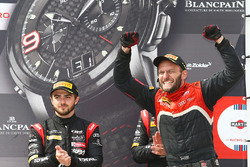 Podium: winners #17 Team WRT Audi R8 LMS crew member