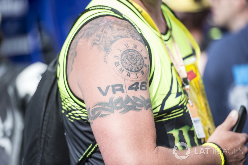 Fan tattoo of Valentino Rossi, Yamaha Factory Racing