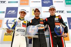 Rookie Podium: First place Jehan Daruvala, Carlin, Dallara F317 - Volkswagen , second place Lando No