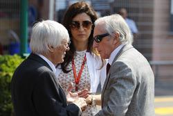Bernie Ecclestone, Fabiana Ecclestone y Jackie Stewart