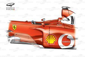 Ferrari F2002 bargeboard (shadowed)