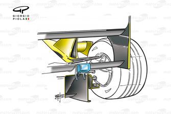 Détails du diffuseur et de la cheminée de la Jordan EJ11