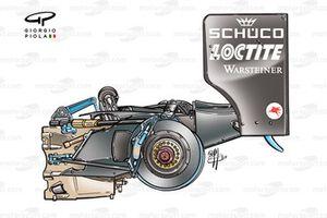 McLaren MP4-17D 2003 rear end packaging detail