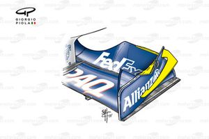 Williams FW24 2002 front wing endplate fins