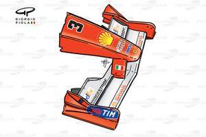 Ferrari F1-2000 (651) 2000 Monaco front wing