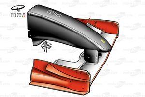 Черный носовой обтекатель Ferrari F2001 (652). Команда использовала его на Гран При Италии 2001 года