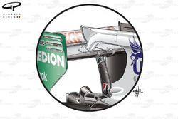 Force India VJM03 rear wing F-Duct
