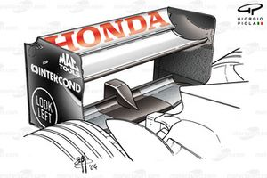 BAR 006 rear wing (curved endplate leading edge)
