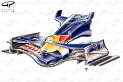 Red Bull RB4 2008 front wing and nose