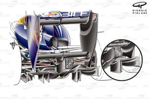 Red Bull RB5 2009 diffuser detail comparison