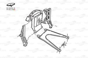 McLaren MP4 1981 rear upright assembly