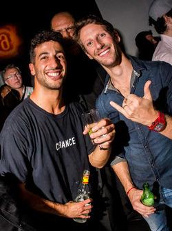 Daniel Ricciardo, Red Bull Racing, Romain Grosjean, Haas F1 Team