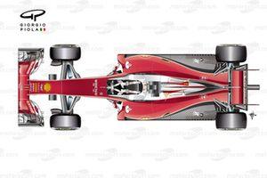 Ferrari SF16-H, вид сверху