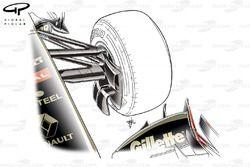 Lotus Renault R31 opened brake duct