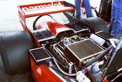 Il posteriore della Brabham BT46B Alfa Romeo fan car di Niki Lauda.